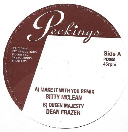 Bitty McLean - Make It With You Remix / Dean Frazer - Queen Majesty (Peckings) 12""